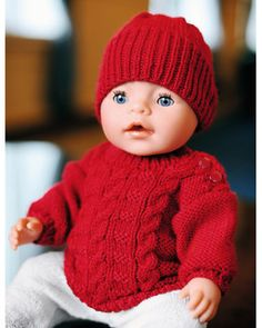 Crochet Doll Clothes, Knitted Dolls, Knitted Hats, Crochet Hats, Baby Born, Diy And Crafts, Projects To Try, Beanie, Knitting
