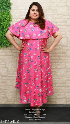 Checkout this latest Dresses Product Name: *Women's Printed Pink Poly Crepe Dress* Fabric: Poly Crepe Sleeve Length: Short Sleeves Pattern: Printed Multipack: 1 Sizes: S, M, L, XL, XXL, XXXL, 4XL, 5XL Country of Origin: India Easy Returns Available In Case Of Any Issue   Catalog Rating: ★4.1 (2835)  Catalog Name: U&F Size Unique Fashion Superior Dresses CatalogID_585574 C79-SC1025 Code: 334-4115452-5511