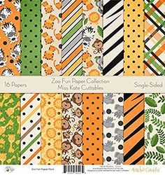 Autumn by Miss Kate Cuttables Pattern Paper Pack Scrapbook Premium Specialty Paper Single-Sided 12x12 Collection Includes 16 Sheets