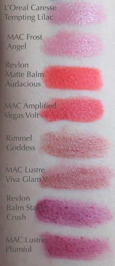 Drugstore Dupes for MAC Lipsticks - Angel, Vegas Volt, Plumful, Viva Glam V, Toxic Tale, Impassioned