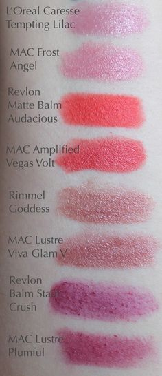 Drugstore Dupes for MAC Lipsticks - Angel, Vegas Volt, Plumful, Viva Glam V, Toxic Tale, Impassioned