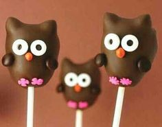 Video - How To Make & Decorate Owl Cake Pops!