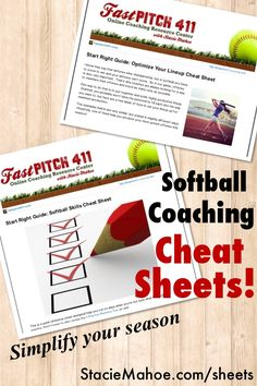Stacie Mahoe | Softball Coaching Cheat Sheets