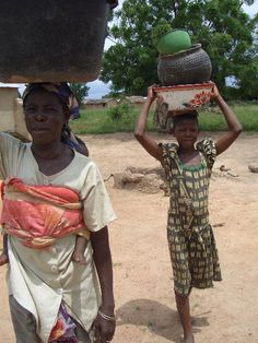 Bringing water from the borehole