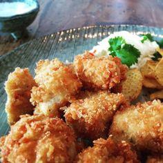 Sprøde kyllinge-nuggets