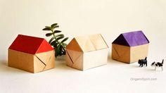 Make an Easy Origami House :: Casa en Origami Make an Easy Origami House :: Cas. Make an Easy Origami House :: Casa en Origami Make an Easy Origami House :: Cas… Make an Easy O Origami Yoda, Kids Origami, Origami Dragon, Origami Fish, How To Make Origami, Useful Origami, Origami Animals, Paper Crafts Origami, Origami Art
