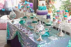 Under the sea mermaid themed baby shower at Paradise Cove captured by top Orlando event and family photographer