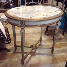 19th Century French Neoclassical Onyx Top End by FMFCompagnie