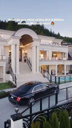 Classic House Design, Dream Home Design, Modern House Design, House Plans Mansion, Home Building Design, Mansion Interior, Luxury Homes Dream Houses, Dream Homes, Dream House Exterior