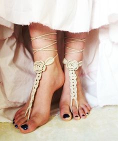 Items similar to Barefoot Sandals,Foot Accessories,Summer Accessories,Crochet Beach Sandals,Ecru Egyptian cotton on Etsy Bare Foot Sandals, Beach Sandals, Thinking Day, Egyptian Cotton, Toe Rings, Anklets, Barefoot, Making Ideas, Summer Concerts