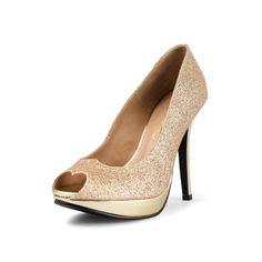 Maleficent Gold Glitter Heels, Gold Heels, Gold Holiday Heels, Gold Bridal Heels, Gold Platform Pumps by ChristyNgShoes on Etsy