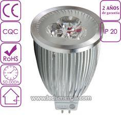 Bombilla LED Dicroica 6W MR16 Blanco Neutro
