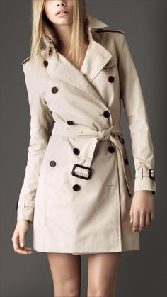 Burberry London mid-length cotton gabardine trench coat 3 1. Getting one  this fall 2cc3efa606435