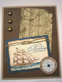 The Open Sea Birthday Card by uoc23 - Cards and Paper Crafts at Splitcoaststampers
