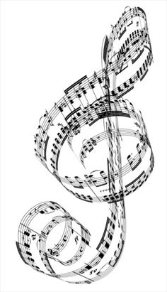 Treble Clef made from Beethoven's piano music