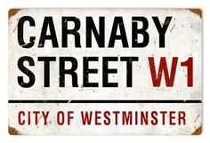 Vintage and Retro Wall Decor - JackandFriends.com - Retro Carnaby Street Tin Sign, $39.97 (http://www.jackandfriends.com/vintage-retro-carnaby-street-metal-tin-sign/)