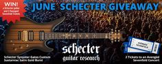 For June, AMS is giving away an incredible guitar + the experience of a lifetime. This prize package includes Schecter Synyster Gates Custom Sustainiac Satin Gold Burst plus 2 Passes to one of several Avenged Sevenfold Shows Summer 2017! http://woobox.com/b7ievz/iz2elb #sweepstakes #giveaway