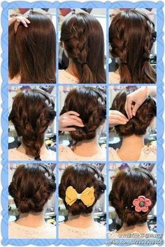 Sensational Braids Updo And Easy Hairstyles On Pinterest Short Hairstyles Gunalazisus