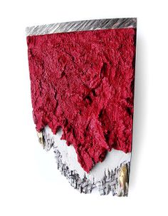 Paolo Scura  Brooch: Beyond the red wall 2010  Constructed, sculpted. Resin, silver, brass, steel, mesh