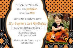 Halloween theme birthday party invitations at blog.invitesbaby.com