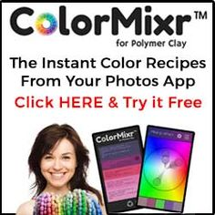 ColorMixr for Polymer Clay App. Instant color recipes from your photos. Click HERE to try it free.