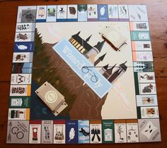 I WANT I WANT I WANT I WANT. Wizardopoly: A Harry Potter and Monopoly Based Board Game. $31.50, via Etsy.