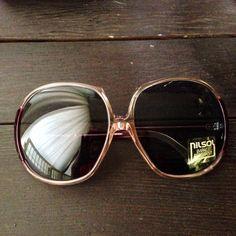 Vintage Oversized Sunglasses 1970's Vintage by WatchandSeeVintage, $35.00