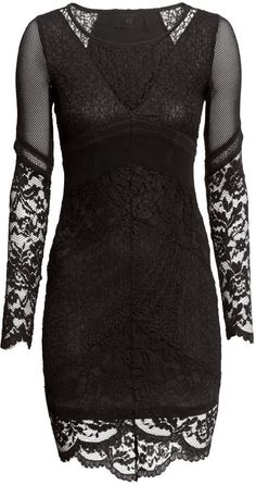 #SALE Lace Dress - Black Shop the #SALE at #H&M