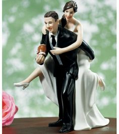 Wedding Cake Toppers Football Funny Cake Toppers