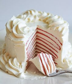 Red Velvet Crepe Cake - Low Carb & SUGAR FREE!!!!!!  Not so much on the fat...