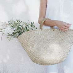 Straw Basket Bag - Natural from The White Company