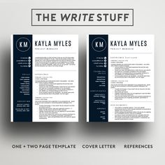 Classic  Page Resume Template  Ms Word For Mac Or Pc