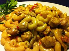 Derek on Cast Iron - Cast Iron Recipes: Recipe: Sausage and Sun-Dried Tomato Pasta (Gluten Free)