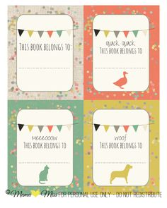 I love these Custom Designed Book Plates, Sign, and Bookmark by Mama Miss. Don't miss the adorable sign and bookmark too that she designed (click through to download full size images without watermarks!)