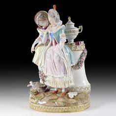 Meissen Porzellan Figurengruppe  Die junge Braut , Modell-No. E70