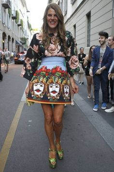 Men's Fashion Week: Milan Day 1 // Anna Dello Russo, editor-at-large and creative consultant, Vogue Japan; Photo by Anthea Simms