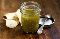 Salsa Verde Recipe  salsa verde:  1 1/2 pounds tomatillos, husks removed  1/2 medium yellow onion, peeled, cut into wedges  3 cloves garlic, peeled  1 or 2 serrano chiles, cut in half, stems removed (depending on how hot you want it)  1 cup cilantro, leaves and stems  Salt to taste