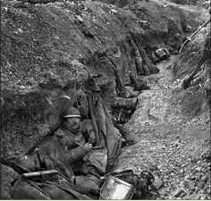In the French trenches at Verdun.
