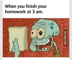 college, homework, late