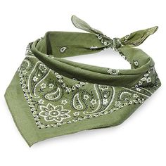Steve Madden Women's N-Chief Scarf ($8) ❤ liked on Polyvore featuring accessories, scarves, olive, steve madden scarves, american bandana, steve madden and bandana scarves