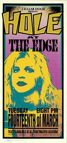 Mark Arminski Hole Poster Hole The Edge 3/14/1995 Artist: Mark Arminski