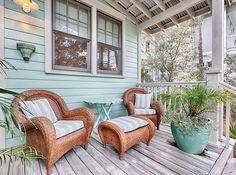 Water Color, Florida Mint Julep Beach Cottage Back Porch
