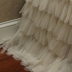 Couture Dreams Chichi Ivory Bed Skirt. Dreamy ruffles....