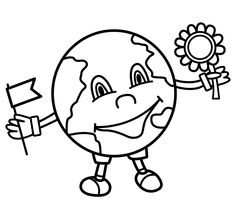 earth flower coloring pages   55 Best Earth Day images   Earth day, Earth day coloring ...