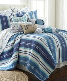 Coral Reef Quilt Set And Gorgeous Coastal Pillows For