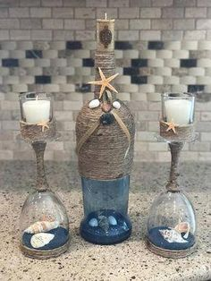 These mauve box activities are considered the most lovable ways to repurpose glass containers, each of these simple DIYs make. #Winebottlecenterpieces