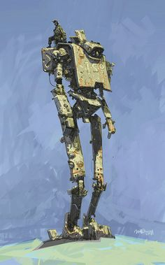Illustrator: Ian McQue #robot #robotdesign