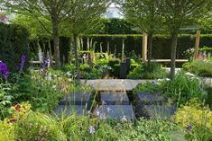 Find out more about the Hope on the Horizon show garden for Help the Heroes at the RHS Chelsea Flower Show designed by Matt Keightley. Water Garden, Herb Garden, Landscape Design, Garden Design, Patio Design, Hampton Court Flower Show, Chelsea Garden, Sensory Garden, Organic Gardening Tips