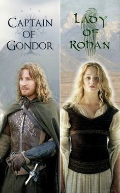 The Captain (Faramir) & The Lady (Eowyn) printable two-sided bookmark