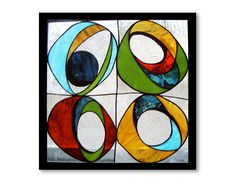 Reflections of Wassily | Contemporary Stained Glass | Junebug Design